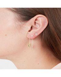 Tada & Toy Break-up Needle And Thread Earrings - Metallic
