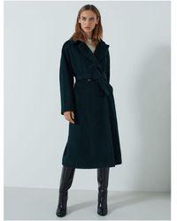 Marella Giorgio Classic Wool Coat Colour: Forest Green