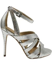 Guess Heeled Sandals In Silver - Metallic