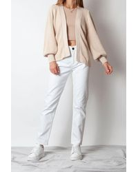 SELECTED Emmy Knit Cardigan In Sandshell - Multicolour