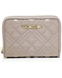 Moschino Love Quilted Zip Around Wallet Colour: Grey