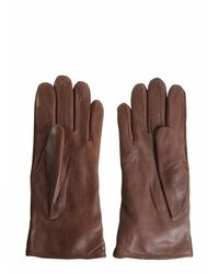 Trussardi Nappa And Suede Gloves - Brown