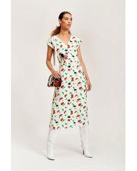 Essentiel Antwerp Antwerp Trophee Off-white Floral Midi Dress