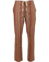 Paul Smith Stripe Pajama Bottoms - Brown