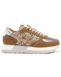Sun68 Trainers Kate Sequined - White