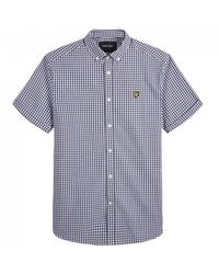 Lyle & Scott Lyle And Scott Ss Gingham Shirt - Black