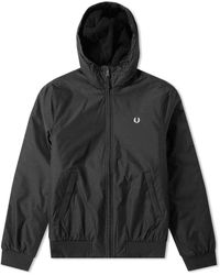 Fred Perry Brentham Hooded Jacket Black