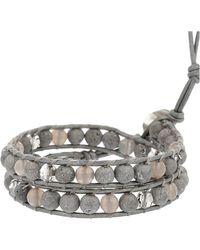 Chan Luu - Silver Agate Mix Single Wrap Bracelet - Lyst