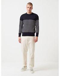 Armor Lux Dumet Striped Knit Sweater - Navy - Blue