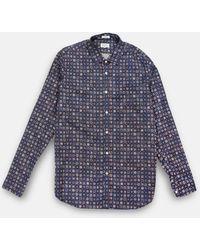 Hartford Sammy Shirt - Navy Print - Blue