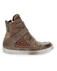 Beverly Hills Polo Club Suede Hi Top Trainers - Brown