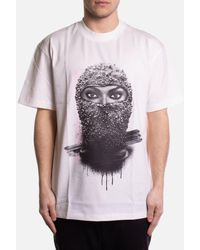 ih nom uh nit T-shirt Short Sleeve With Face Print - White
