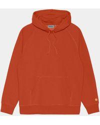 Carhartt Wip Hooded Chase Sweatshirt - Copperton - Orange