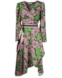 Silvian Heach Lombou Green Wrap Dress