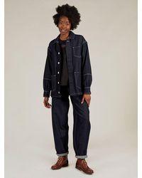 SIDELINE Maya Jeans In Dark Indigo - Blue