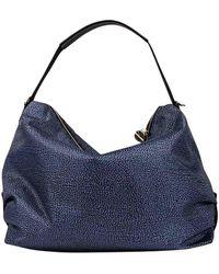 Borbonese Hobo Bag Large - Blue