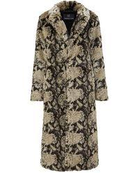Unreal Fur Madam Grace Coat - Brown