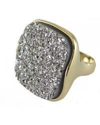 Marcia Moran - Women's Gan157 Bre Square Titanium Druzy Ring - Lyst