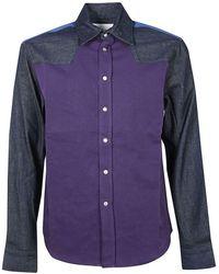 Calvin Klein Cotton Shirt - Purple