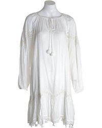 Conditions Apply Long Dress Ibniza Milk Fibre - White