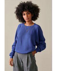 Bellerose Fw21 Fiksh Myosotis Sweatshirt - Blue