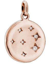 Kirstin Ash Constellation Circle Charm - Rose Gold - Multicolor