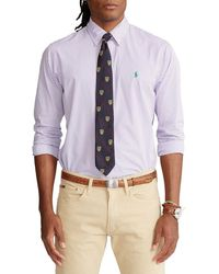 Ralph Lauren Men's 710818196009 Purple Cotton Shirt