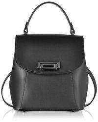 Le Parmentier Women's 050black Black Leather Backpack
