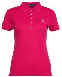Ralph Lauren Women's 21150565411159 Fuchsia Other Materials Polo Shirt - Pink