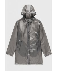 Stutterheim Stockholm Semi-transparent Raincoat - Smoke - Grey