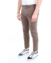 Pt05 Mud-colored Chino Pants - Brown
