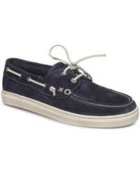 SELECTED - August Navy Suede Boat Shoes - Lyst