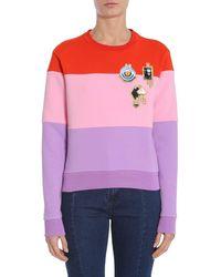 Carven Multicolor Cotton Sweatshirt - Purple