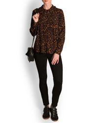 MASSCOB Jaden Leopard Silk Shirt - Brown