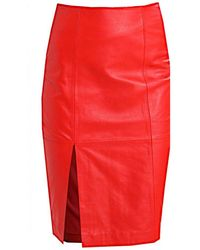 Second Female Beate Leather Skirt - Red