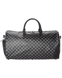 Sprayground Henny Chequered Black Duffle Bag