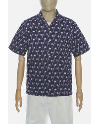 Universal Works Ikat Road Shirt In Indigo - Blue