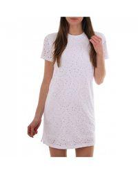 Polo Ralph Lauren Eyelet Ss Casual Dress - White