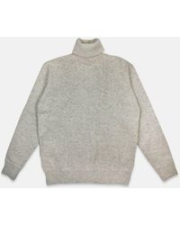 Universal Works - Roll Neck Sweater - Natural - Lyst