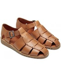 Paraboot Pacific Sport Sandals - Miel Lis Cognac - Brown