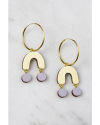 Wolf & Moon - Miro Lavender Hoop Earrings - Lyst