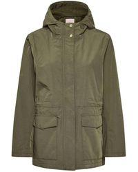 Part Two Becky Khaki Rain Coat - Green