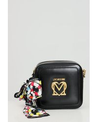 Love Moschino Bags Bag Room With Scarf - Black