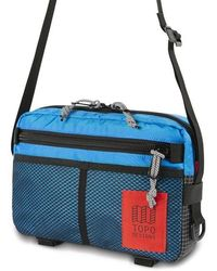 Topo Block Bag - Blue