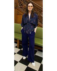 Tallulah & Hope Gloria Waisted Blouse The Sky Navy - Blue