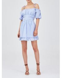 Finders Keepers The Floria Dress In Periwinkle - Blue