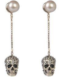 McQ Skull Earrings - Metallic