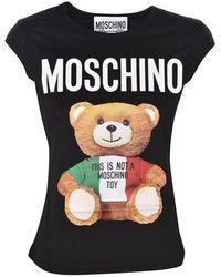 Moschino Italian Teddy Bear Top - Black