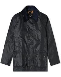 Barbour Beaufort Wax Jacket Navy - Blue