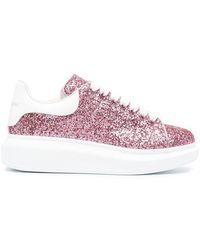 Alexander McQueen - Women's 558944w4pz15424 Pink Leather Sneakers - Lyst